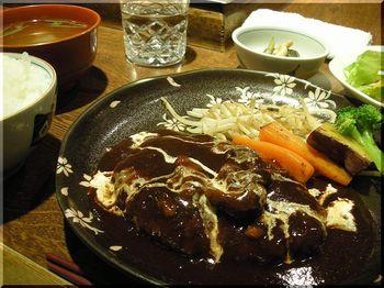 びいふ亭(横浜)-和牛ハンバーグセット2.JPG
