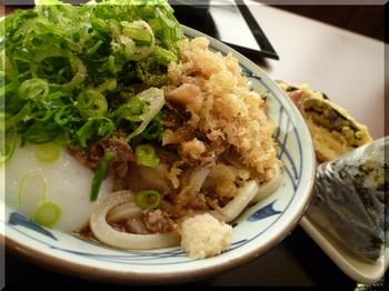 丸亀製麺(厚木)-肉ごぼうぶっかけ1.JPG